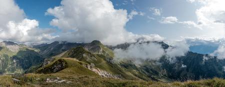 Mountains in the alps in Lichtenstein.