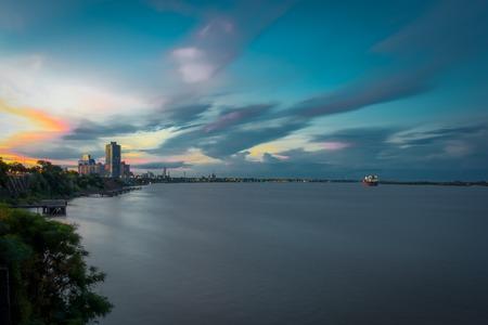 Rosario sunset river, Argentina, South America.