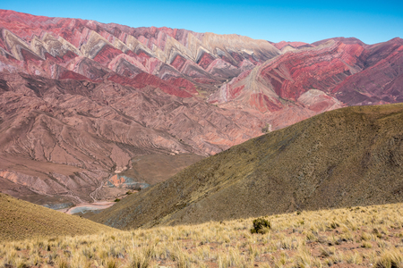 Cerro Hornocal, Jujuy, Argentina :14 colours mountain in North Argentina Imagens