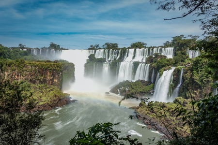 The biggest waterfall in Brazil and Argentina. Foz do Iquasu. Puerto Iguaz