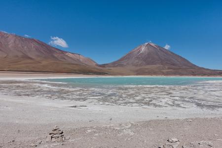 Laguna Verde, Salar de Uyuni: a stunning place in Bolivian Altiplano, near Atacama in Chile