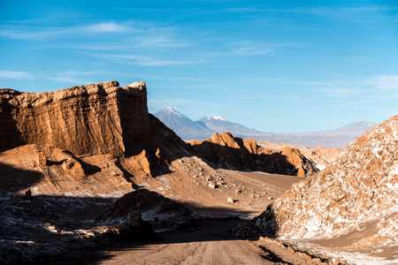 Volcano, Moon Valley, Atacama, Chile. One of the dryest places in the world.