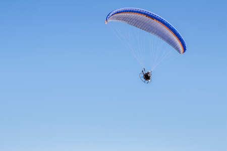 powered: Powered parachute Stock Photo
