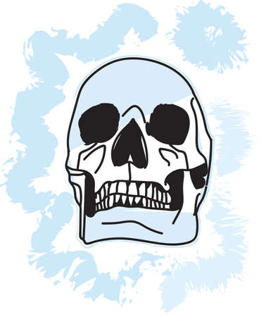 effect: skull with air effect for printing