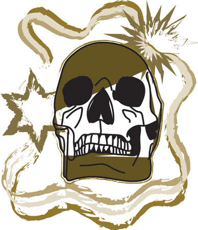 effect: skull with mira effect for printing