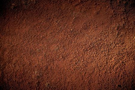 agricultura: Imagen de rojo textura del suelo Foto de archivo