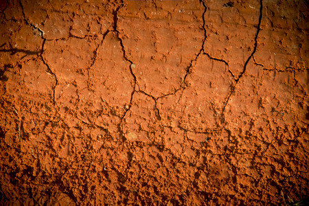 Dry-Red Soil Texture with Crack