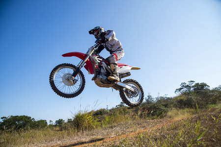 dirt bikes: Motocross sport Stock Photo