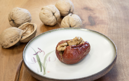jujube fruits: Jujube plus walnut, very delicious dried fruits Stock Photo