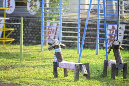 trojans: Trojan on schoolyard, shot in the morning.