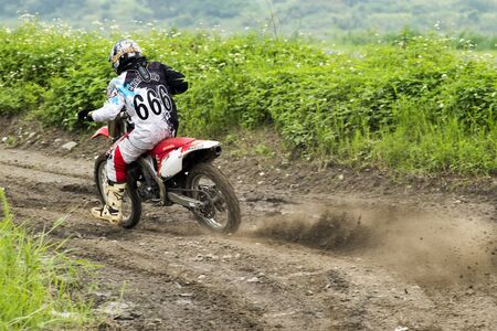 dirt path: Motocross on the dirt path