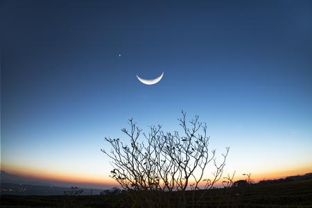 Majestic vroege avond platteland landschap met prachtige spectrum, Taiwan Stockfoto