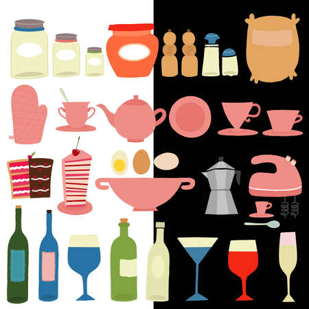 Kitchen tools Vector illustration  Vector