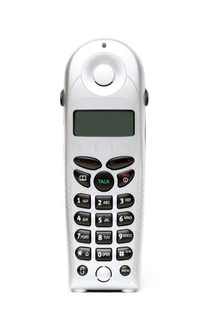 cordless phone: modern cordless phone, shot high-key over white