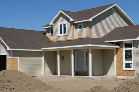 almost: new american home, construction almost finished Stock Photo