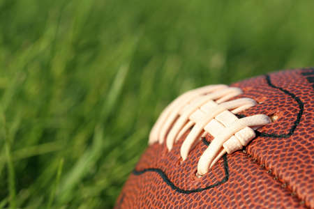 football in the grass - macro with shallow depth of field Stock Photo