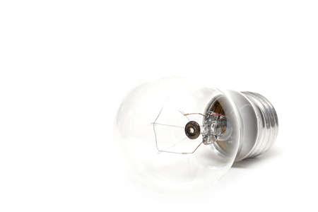 highkey: lighbulb highkey macro over white. shallow depth of field with focus on inner tube.