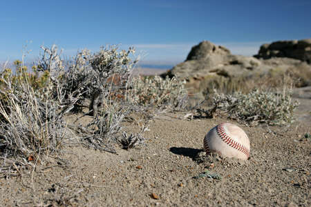 nowhere: baseball, really lost in the middle of nowhere, wyoming Stock Photo