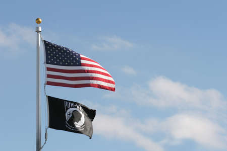pow: american and pow mia flags (prisoners of war, missing in action), you are not forgotten