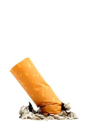 cigarette butt macro - isolated, shallow dof photo