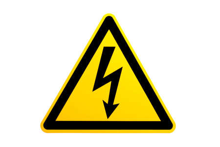 over voltage: high voltage symbol over white. please note this is not an illustrationvector, image hasnt been sharpened.