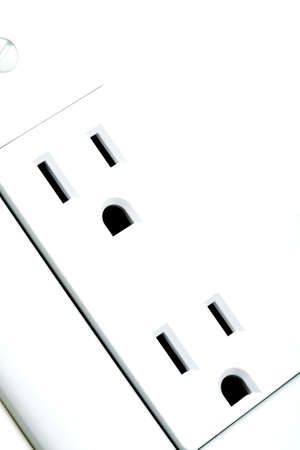 power outlet - an abstract macro shot highkey on white photo