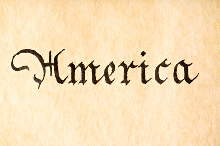declaration of independence: America text - macro from the United States Declaration of Independence