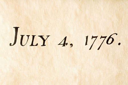 fourth of july - macro of Declaration of Independence as of July 4, 1776 Stock Photo - 2548839