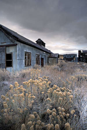 midwest usa: abandoned coal mine building in midwest USA, HDR