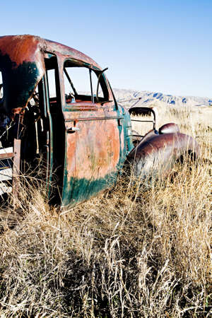 abandoned car in rural Wyoming photo