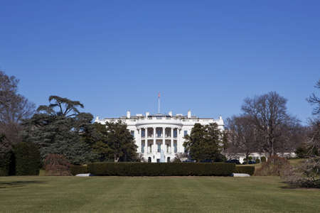 White House in Washington DC under clear blue sky Stock Photo - 4416033