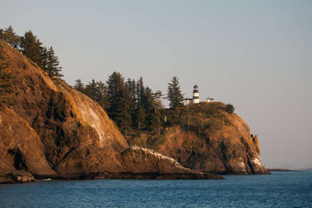 Oregon Coast landscape - lighthouse at Cape Disappointment photo