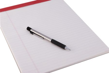 Close Up of a Legal Pad and Pencil