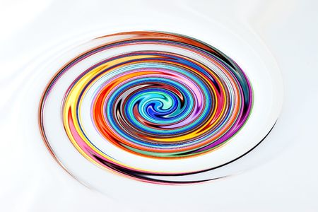 clockwise: Multi Colored Abstract Clockwise Swirl Stock Photo