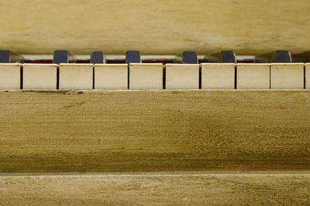Vintage Piano Keys 版權商用圖片