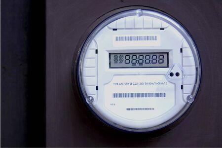 electric utility: American Smart Meter Showing all Eights