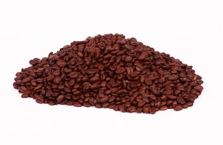 cafe colombiano: Un mont�n de granos de caf� colombiano.  Foto de archivo