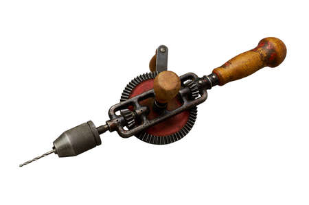 New handy drill isolated on white. Clipping path included.