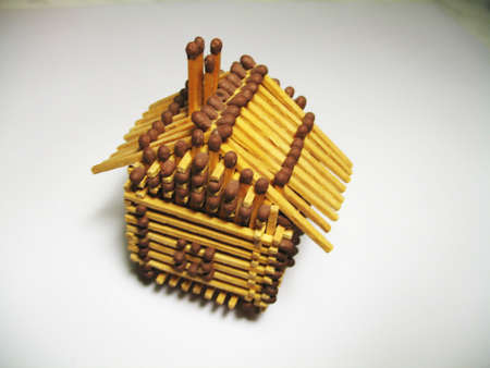 a small house made from matches