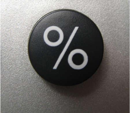 photo of calculators percent button