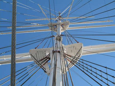 rigging: rigging Stock Photo