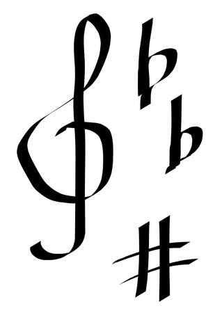 símbolos musicales  Foto de archivo - 1390675