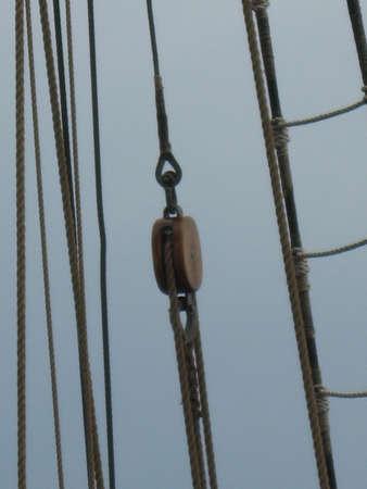 rigging: a rigging of sailing ship