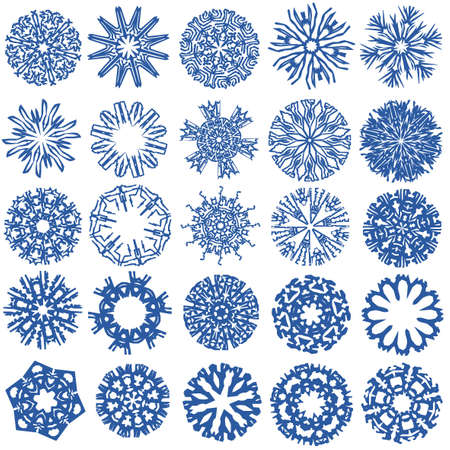 a collection of snowflakes