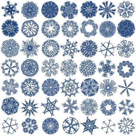 a set of decorative snowflakes