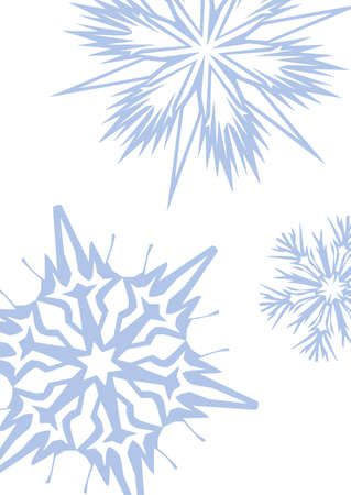 snowflakes: A4 format template Vector