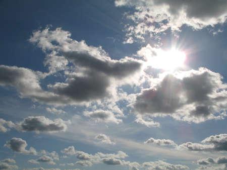a cloudy sky Stock Photo