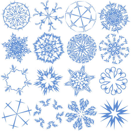 decore: a set of 16 snowflakes
