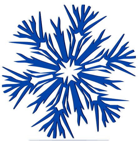 salumi affettati: Decorativa Snowflake  Vettoriali