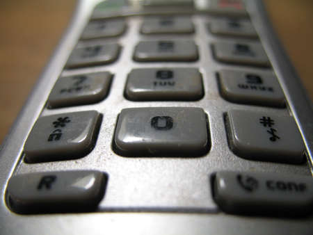 a numeric keypad of the phone